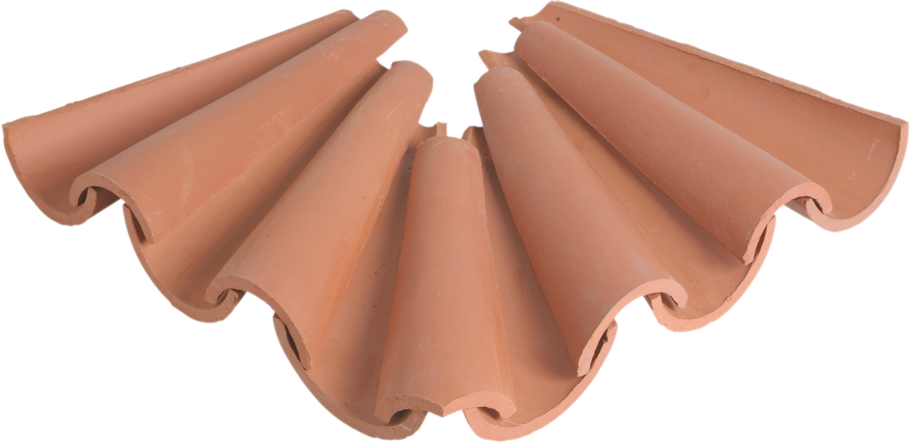 Corner curved eaves